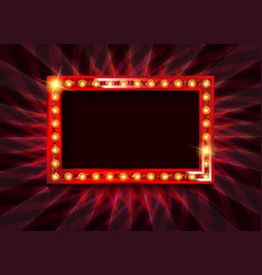 red neon round frame vector image