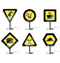 Road Sign Icons vector