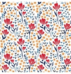 Seamless pattern with red and yellow vector image