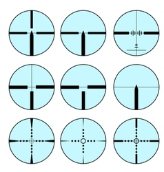 Set of different sights for weapons vector