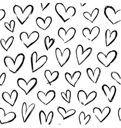 sketch hearts pattern hand drawn valentines heart vector image