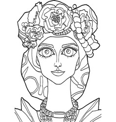 the girl with a decoration on her head 30 vector image