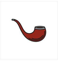 tobacco pipe simple icon on white background vector image