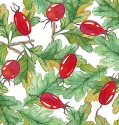 Watercolor seamless pattern with acorns and vector