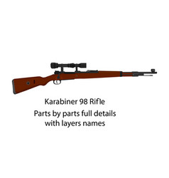 ww2 bolt-action rifle karabiner 98k vector image