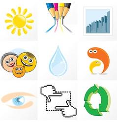 abstract emblems set vector image vector image