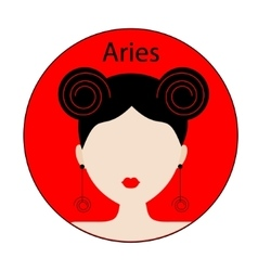 Aries zodiac sign vector image vector image