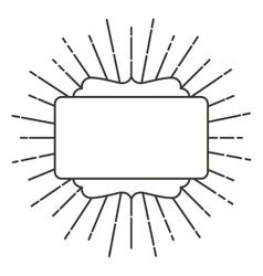 Art deco style linear label design vector