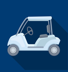 Car for golfgolf club single icon in flat style vector