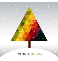 Colorful geometric Christmas tree vector image
