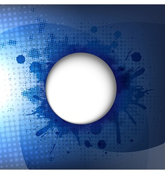 Dark Blue Background With Speech Bubble vector image