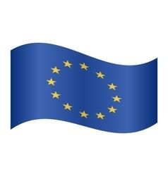 Flag of Europe European Union waving on white vector image