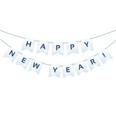Happy New Year words vector image vector image