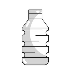 Line water plastic bottle to drink and healthy vector