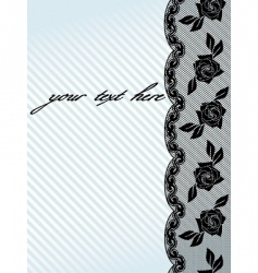 vertical black french lace background vector image