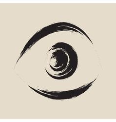 Black frightened eye vector