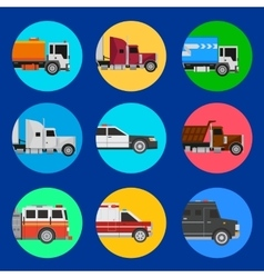 Cars icons on a blue background vector image
