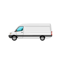 commercial cargo van isolated icon vector image