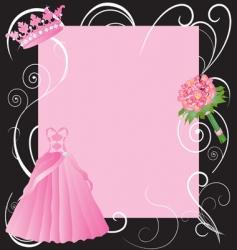 la quinceanera invitation vector image vector image