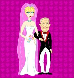 Newly married couple vector