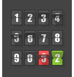 Plastic diary with digits set vector image vector image