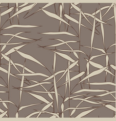 seamless pattern with grass on a brown background vector image