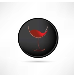 tasting red wine icon vector image vector image