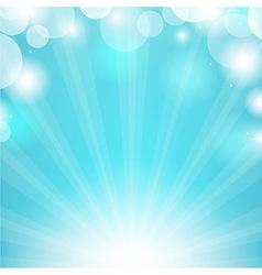 Blue Sunburst vector image vector image
