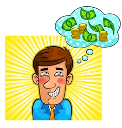 money thoughts vector image vector image