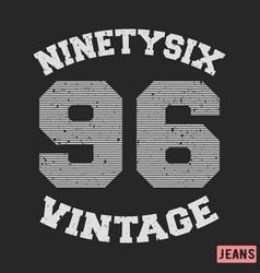 Ninety six vintage stamp vector