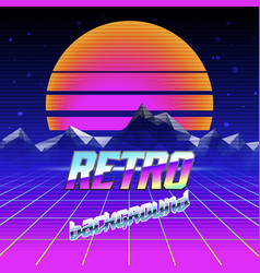 Retro futuristic background vector