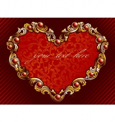 valentine background with rubies vector image vector image