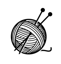 yarn and needles vector image vector image