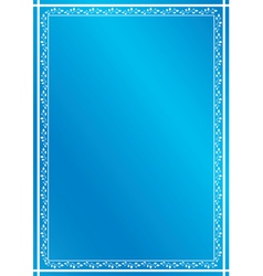 blue vertical frame with plants vector image