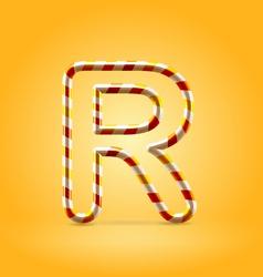 Candy summer hot orange outline font vector image vector image
