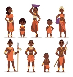 Maasai couple african people in traditional vector image
