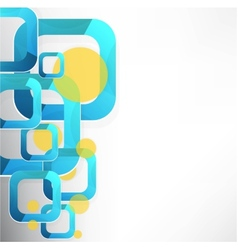 Abstract colorful wave vector image
