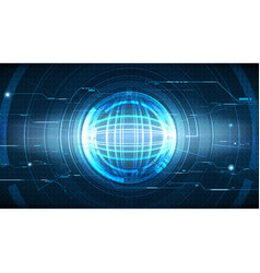 Abstract high technological global background vector