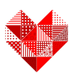 Abstract patchwork heart vector