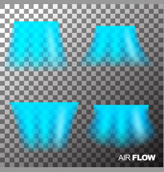 Air flow clean or cold from conditioner vector