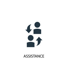 Assistance icon simple element vector