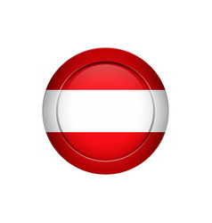 austrian flag on the round button vector image