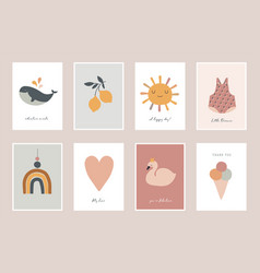 bachildren little kids cards posters in vector image