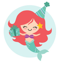 birthday mermaid vector image
