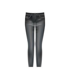Black washed jeans vector