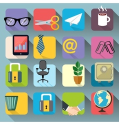 Business Office Stationery Icons Set vector image