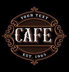 Cafe logo design vector