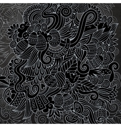 Cartoon chalkboard doodles on subject of vector
