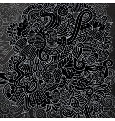 Cartoon chalkboard doodles on the subject of vector