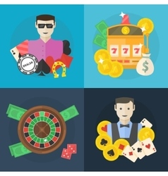 casino or poker flat vector image